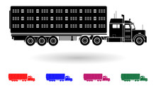 Detailed Multi Color Animal Transporting Truck Illustration