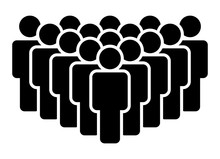 Crowd Of People, Big Team Or Audience Flat Vector Icon For Apps And Websites