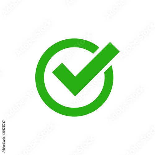 check mark icon vector design symbol Wallpaper Mural