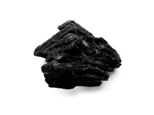 Natural Wood Charcoal. Black Charcoal Texture Background. Charcoal Isolated On White Background.