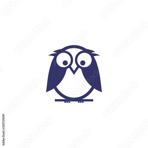owl logo vector icon