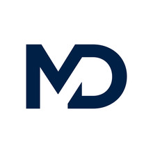 Modern MD Letters Vector Icon ...