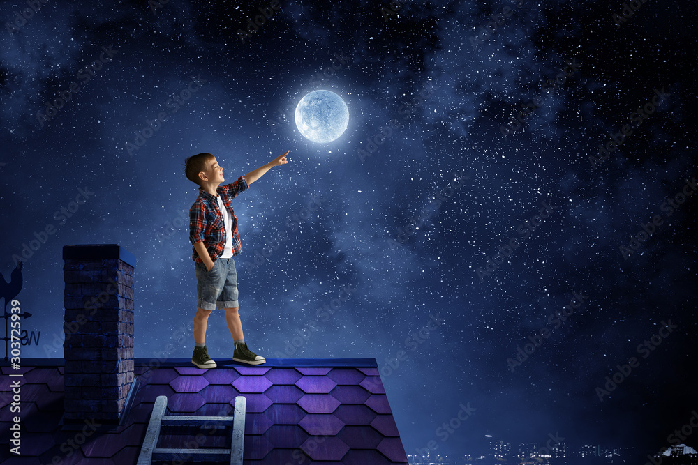Fototapety, obrazy: Childish sweet dreams. Mixed media