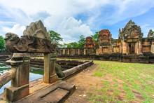 Ancient Khmer Temple Prasat Muang Tam In Thailand.