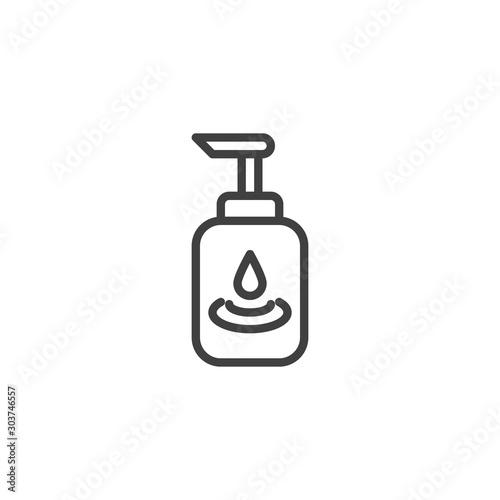 Fotografía  Lubricating gel line icon