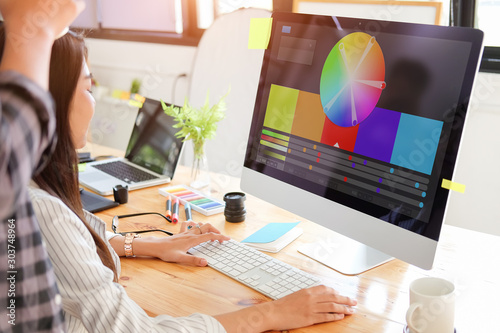 Cropped shot view designer graphic creative creativity work tablet designing design artist coloring colour ideas style networking human notebook pattern place