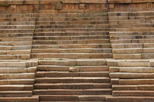 Patterns And Textures Of Ancient Indian Rock Steps