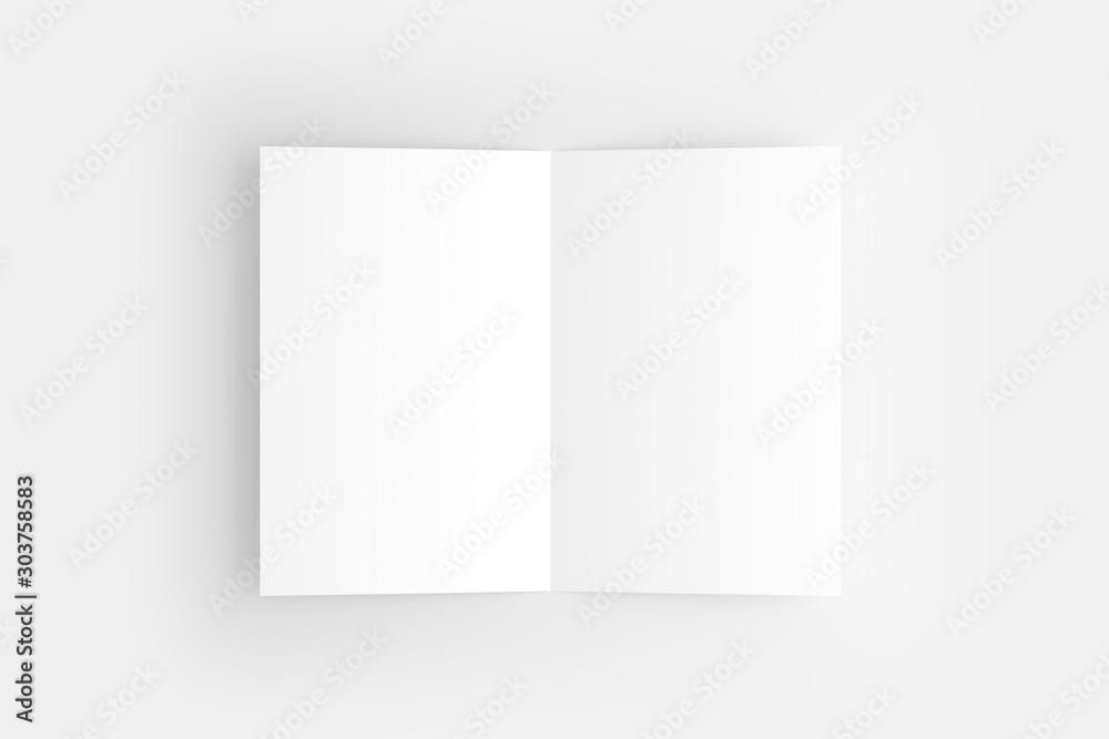 Fototapety, obrazy: US Letter Bifold Brochure White Blank Mockup