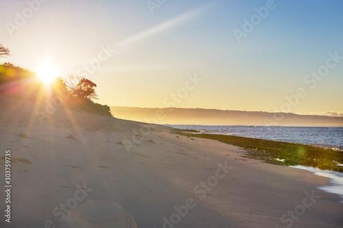 Hawaiian beach at sunrise