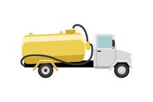 Septic Truck Vector Illustrati...