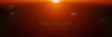 Centred Abstract Orange Lens F...