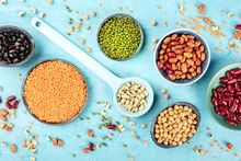 Legumes, Shot From The Top On ...