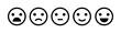 Emoji icon set of satisfaction level in flat style