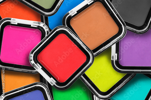 Fototapeta Colorful mat eyeshadows