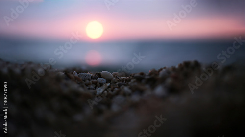 Foto op Plexiglas Purper sunset landscape natural beauty of nature at sunrise