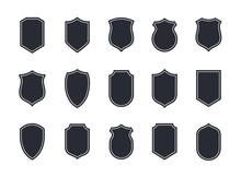Shield Blank Emblems. Heraldic...