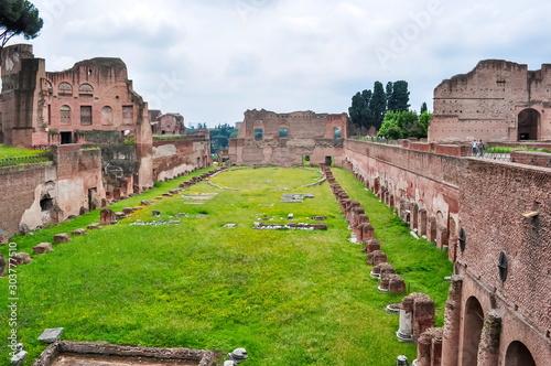 Fototapeta Stadium of Domitian ruins in Rome, Italy