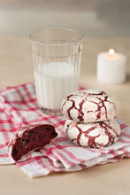 Red Velvet Cookies With Glass ...