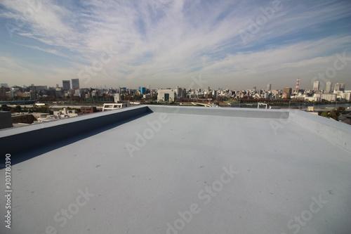 Fototapeta マンションの屋上防水と眺望 obraz