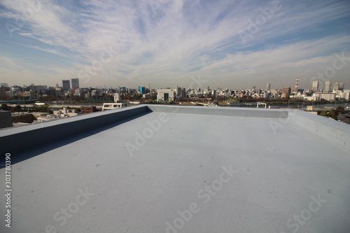 Stampa su Tela マンションの屋上防水と眺望