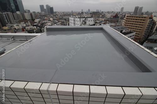 Fototapeta マンションの屋上防水と眺望