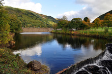 Beautiful Cwm Rheidol Lake, Da...