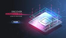 CPU Concept With Futuristic HU...