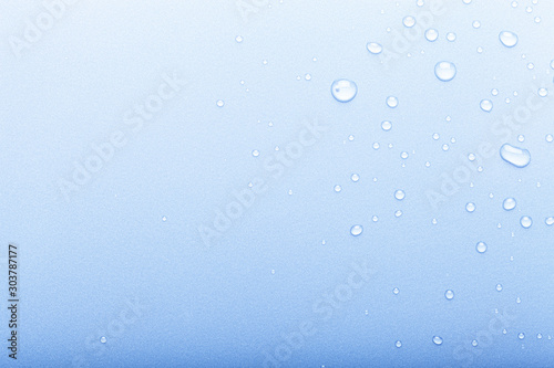Drops of water on a color background Canvas Print
