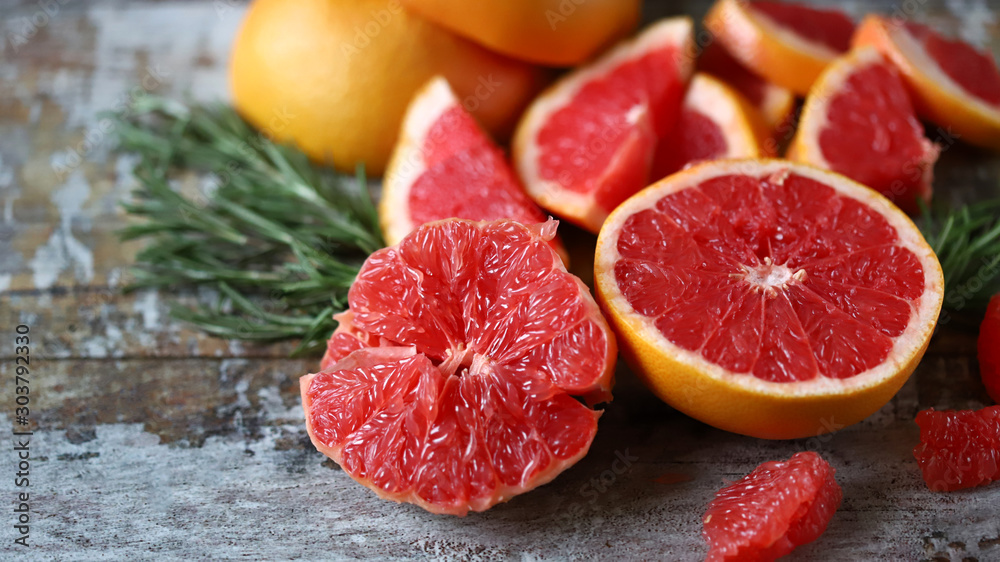 Fotografie, Obraz Fresh juicy grapefruits