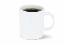 White Coffee Cup Isolated On W...