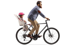 Man Riding A Bicycle With A Li...