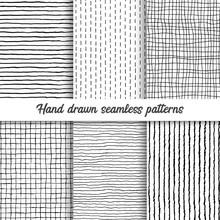 Set Of Vector Hand Drawn Check...