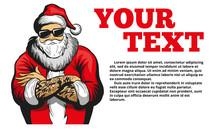 Cool Santa Claus Vector Illust...