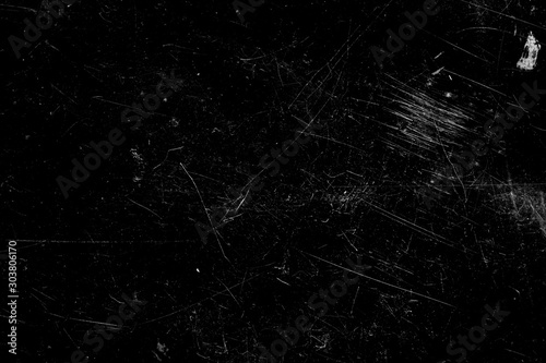 scratches isolated on a black background. template for design Slika na platnu