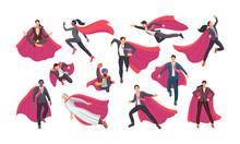 Set Businessman And Superwoman...