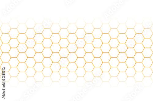 Photo cellules alvéolaires, nids d'abeilles
