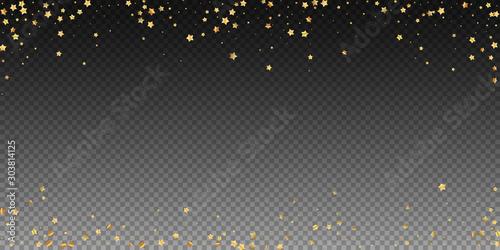Obraz Gold stars random luxury sparkling confetti. Scatt - fototapety do salonu