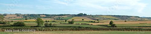 Fotografiet Paysage agricole en auvergne
