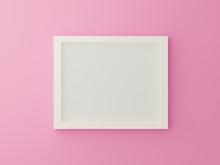 White Blank Photo Frame On Pin...