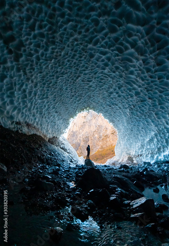Eiskapelle Berchtesgaden Gletscherhöhle Nationalpark Königssee Klimawandel Symbo Wallpaper Mural
