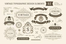 Vintage Typographic Design Ele...