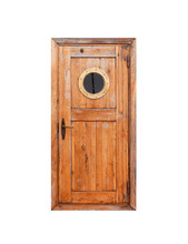 Wooden Door With Round Porthole