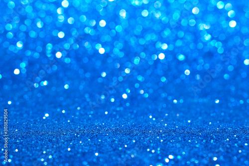 Obraz blue glitter abstract background - fototapety do salonu