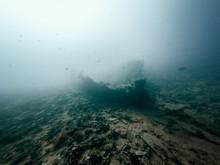 Ship Wreck Exterior In The Ocean