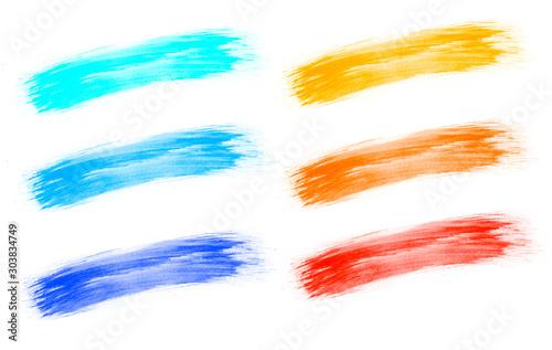 Photo  Pinselstrich Kunst Farbe isoliert weißer Hintergrund