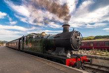 Steam Train At Yorkshire Town ...