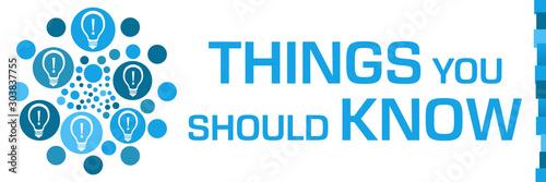 Fotografía Things You Should Know Blue Dots Circular Bulbs Left