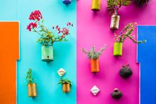 Recycled Tin As Flower Vases E...