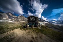 Aiguille Du Midi Cable Car Station Of Plan De L'aiguille, The Intermediate Stop Halfway To The Summit, During Summer - Chamonix, Haute-Savoie, France