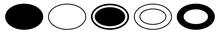 Label Oval Black | Logo Sticker | Emblem | Icon | Variations